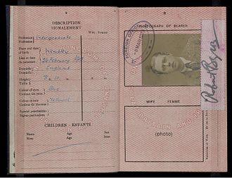 Robert Byron - Robert Byron's British Passport issued in 1923