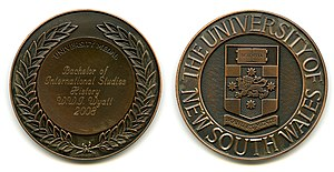 University Medal - A University Medal from the University of New South Wales.