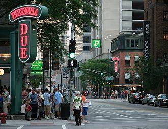 Uno Pizzeria & Grill - Pizzeria Uno and Due one block apart.