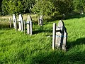 Unsafe gravestones, Giggleswick - geograph.org.uk - 918122.jpg