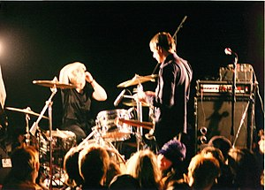 Unwound - Vocalist and guitarist Justin Trosper and drummer Sara Lund