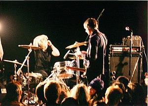 Unwound - Vocalist and guitarist Justin Trosper and drummer Sara Lund