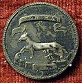 Urbino, medaglia di federico da montefeltro coniata in argento, verso con ermellino.JPG