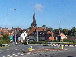 Uttoxeter town in Staffordshire, England