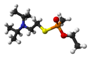 Ball and stick model of VX ((R)-phosphinate)