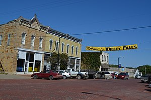 Valley Falls, Kansas - Business district of Valley Falls (2014)