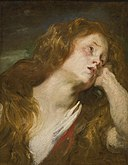 Van Dyck - YOUNG WOMAN RESTING HER HEAD ON HER HAND (PROBABLY THE PENITENT MAGDALENE).jpg