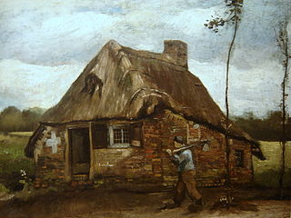 Scene of a Cottage with a Peasant Coming Back Home