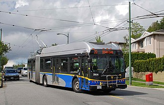 Transportation in Vancouver - Electric trolley bus