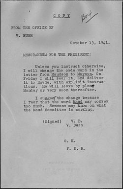 Vannevar Bush to Franklin D. Roosevelt - NARA - 194883.jpg