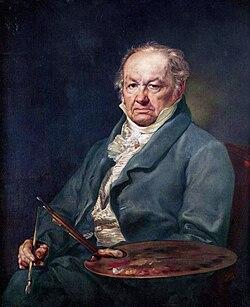 Francisco de Goya (1826), por Vicente López.