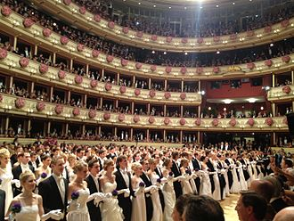 Vienna Opera Ball - Debutantes' entry during the opening of the ball (2014)