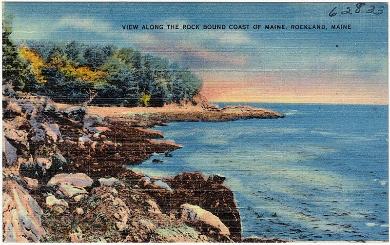 File:View Along the Rock Bound Coast of Maine, Rockland ...