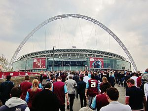 2012 Football League Championship play-off Final - Image: View from Wembley Way, Playoff Final 2012