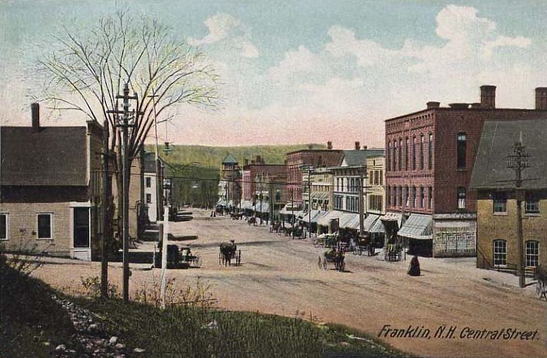 View of Central Street, Franklin, NH