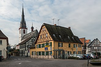 Erbach, Rheingau - View of Erbach and St. Markus
