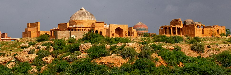 View of Makli by Usman Ghani (cropped)