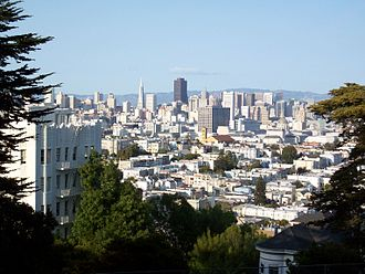 Buena Vista Park - Image: View of San Francisco from Buena Vista Park