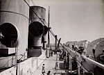 View of boat deck of RMS Strathnaver from bridge, 1934.jpg