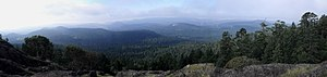 Highlands, British Columbia - Image: View west from Mt. Work panoramio