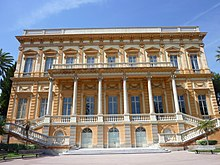 Exterior of the Beaux Arts museum in Nice France