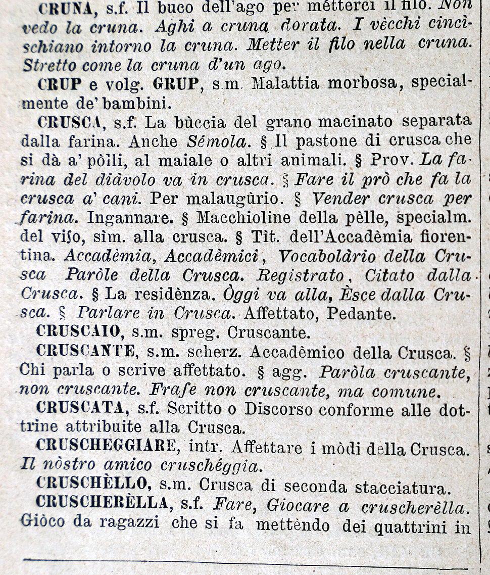 Villa di castello, biblioteca dell'accademia della crusca, dizionario petrocchi 03 crusca