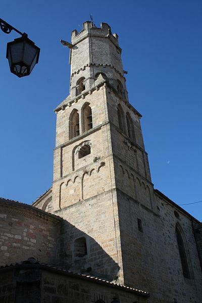 Villeneuve-lès-Béziers (Hérault) - clocher de Saint-Étienne.