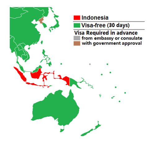 Visa policy of Indonesia
