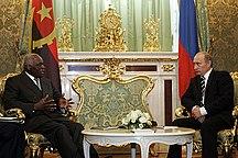Angola-Politics-Vladimir Putin with Jose Eduardo dos Santos-1