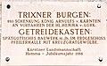 Voelkermarkt Mittertrixen 3 Trixner Burgen Getreidekasten Gedenktafel 22082012 691.jpg