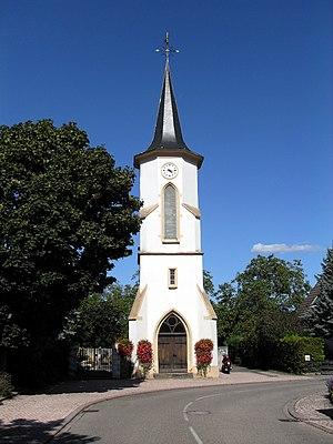 Vogelgrun - Image: Vogelgrun, Vestige de l'ancienne église Saint Alphonse