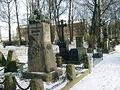 Volkovskoe cemetery Grave of Belinsky Plekhanov Dobrolyubov.jpg
