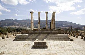 Capitoline Temple - Capitoline Temple of Volubilis