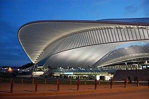 Liège-Guillemins railway station - Image: Vue de la gare des Guillemins