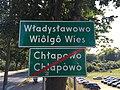 Władysławowo - Chłapowo - znak drogowy.jpg