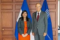 WIPO Director General Meets El Salvador's Minister of Economy Maria Luisa Hayem.jpg