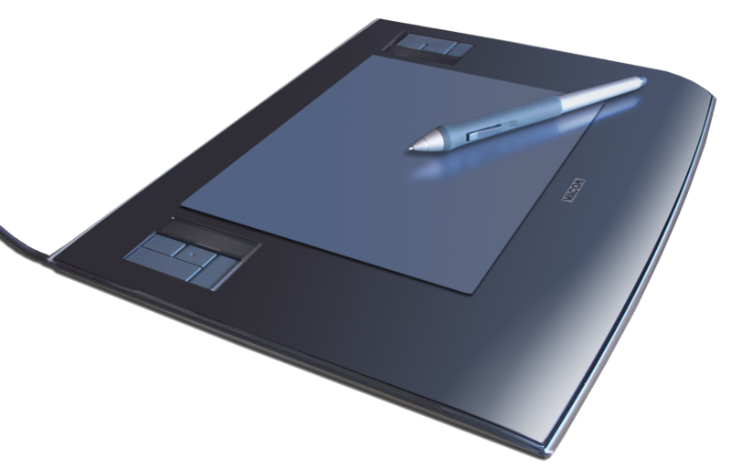Archivo:Wacom graphics tablet and pen.png