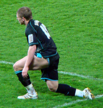 Martyn Waghorn - Waghorn playing for Leicester City, March 2010