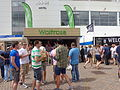 Waitrose stall, Headingley Stadium during the second day of the England-Sri Lanka test (21st April 2014).JPG