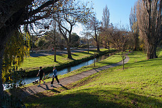 river in Christchurch, New Zealand