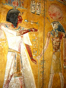 Wall paintings in Siptah's tomb, Valley of Kings.jpg
