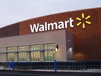 Walmart - Exterior of a Walmart store taken in 2013