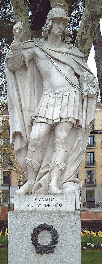 Wamba (king) - Statue in Madrid (A. Carnicero, 1750–53).