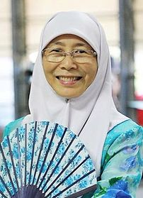 Wan Azizah at the Bersih Rally.