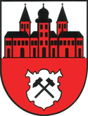 Das Wappen von Johanngeorgenstadt