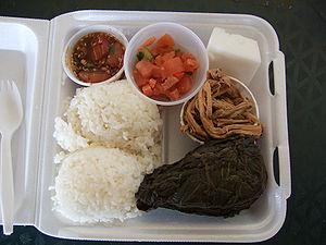 Plate lunch - Image: Wardsplatelunch