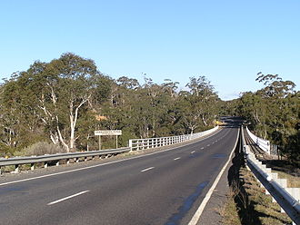 Murray County, New South Wales - Bridge over the Shoalhaven River, near Braidwood; the river is the boundary between Murray and St Vincent.