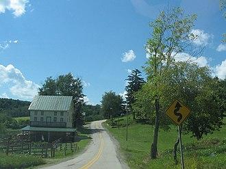 Washington Township, Greene County, Pennsylvania - Pennsylvania Route 221 as it passes through Washington Township