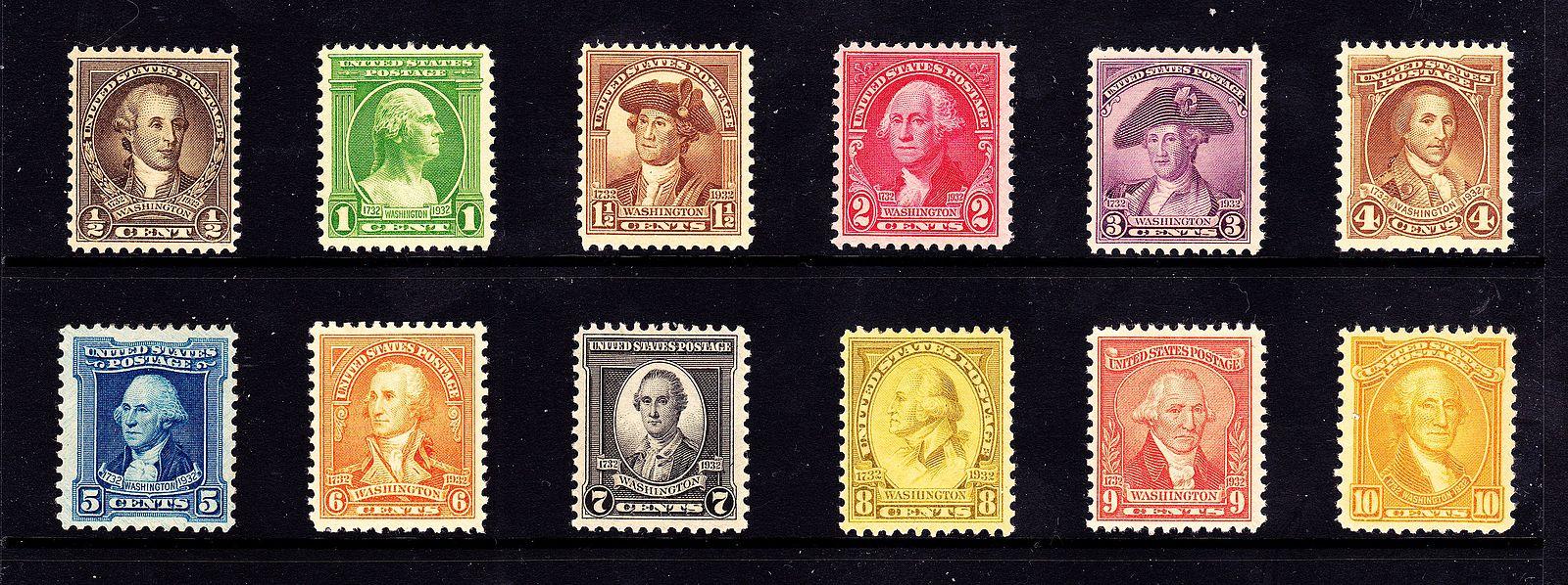 Washington Bicentennial Issue Of 1932