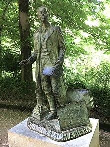Denkmal für Washington Irving in der Alhambra (Granada) (Quelle: Wikimedia)